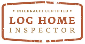 log home inspector logo